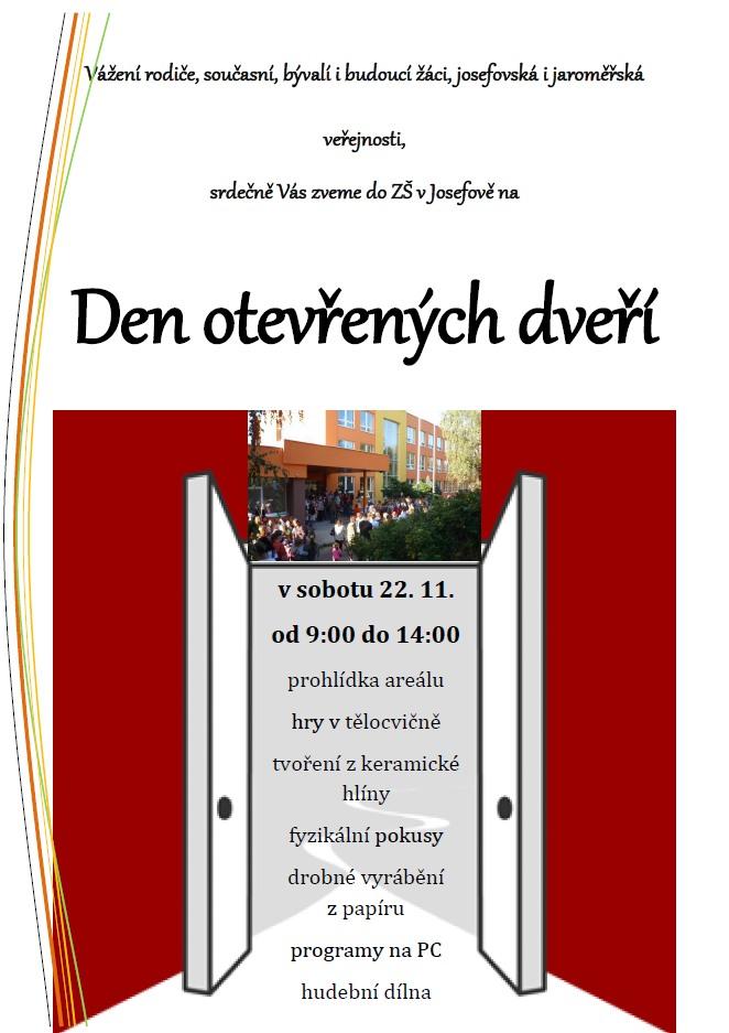 Obrázek Den otevřených dveří - Den otevřených dveří